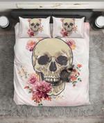 Skull Skeleton Flower  Bedding Set Bedroom Decor