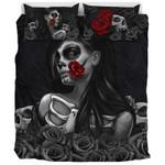 Rose Sugar Skull Bedding Set Bedroom Decor