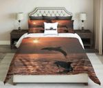 Dolphins Jumping Out Of Water  Bedding Set Bedroom Decor
