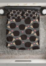 Hedgehog  Kiss Me  Bedding Set Bedroom Decor