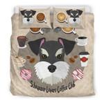 Schnauzer Lovers Coffee Club Printed Bedding Set Bedroom Decor