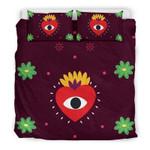 Eye Heart You Printed Bedding Set Bedroom Decor