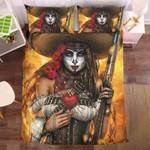 Girl Skull Gunner Bedding Set Bedroom Decor