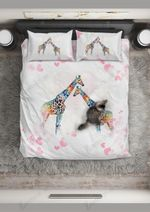 Giraffe  In Love With You Bedding Set Bedroom Decor