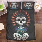 Skull Native American Bedding Set Bedroom Decor