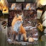 Snow Forest Fox Bedding Set Bedroom Decor