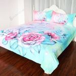 Unicorn Floral Design   Bedding Set Bedroom Decor