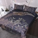 Golden Dolphin Printed Bedding Set Bedroom Decor