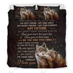 To My Sweetheart I Don't Want Anyone Else Wolf Printed Bedding Set Bedroom Decor