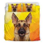 Geometric German Shepherd Modern Art For Dog Lovers  Bedding Set Bedroom Decor
