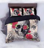 Vintage Dictionary Skull Pages Bedding Set Bedroom Decor