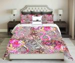 Floral Background Seamless Pattern Skull Design  Bedding Set Bedroom Decor