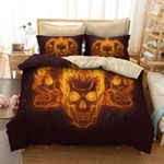 Fire Of Death Angry Skeleton Print  Bedding Set Bedroom Decor