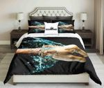 Fist Against Water On Black Background Set   Bedding Set Bedroom Decor
