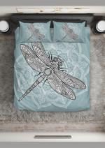 Dragonfly Blue Sea Printed Bedding Set Bedroom Decor