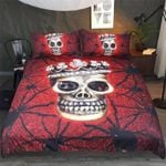 Spider Skull Blood Red Bedding Set Bedroom Decor