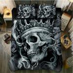 King Poker Skull  Bedding Set Bedroom Decor