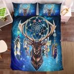 Galaxy Dreamcatcher Deer Printed Bedding Set Bedroom Decor