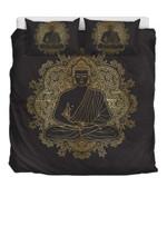 Gold Buddha  Bedding Set Bedroom Decor