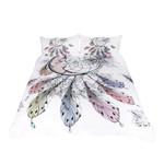 Moon Dreamcatcher Feathers White Bedding Set Bedroom Decor