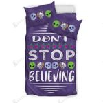 Don't Stop Believing In Aliens Unicorns Skulls Bedding Set Bedroom Decor