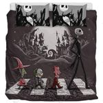 Nightmare Before Christmas Abbey Road Printed Bedding Set Bedroom Decor