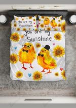 Sunflower Sunshine Chicken Printed Bedding Set Bedroom Decor