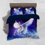 Flying Unicorn Moon Bedding Set Bedroom Decor