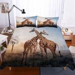 Giraffes At Sunset 3D  Bedding Set Bedroom Decor