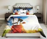 Golf Tools On Sky Background Design  Bedding Set Bedroom Decor