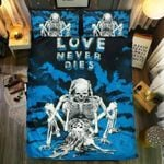 Skull Love Never Dies Printed Bedding Set Bedroom Decor