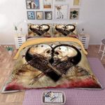 Skull Couple Heart Love Bedding Set Bedroom Decor