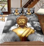 Golden Buddhatatue Bedding Set Bedroom Decor