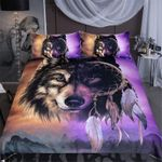 Wolf With Dreamcatcher Bedding Set Bedroom Decor