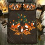 Fox Family Cartoon  Bedding Set Bedroom Decor