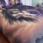 Wolf Mystic Look Printed Bedding Set Bedroom Decor