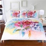Flowery Death Bedding Set Bedroom Decor