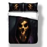 Devil Gold Skull Printed Bedding Set Bedroom Decor