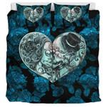 Sugar Skull Love In Color  Bedding Set Bedroom Decor