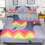 Dachshund Rainbow Puppy Bedding Set Bedroom Decor