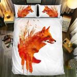 Orange Fox Bedding Set Bedroom Decor