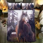 Unicorn In Forest Printed Bedding Set Bedroom Decor