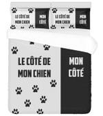 Le Cote De Mon Chien Mon Cote Dogs Footprint  Bedding Set Bedroom Decor