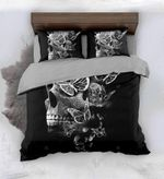 Skull And Butterfly Bedding Set Bedroom Decor