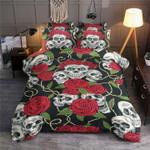 Skulls Roses Horror  Bedding Set Bedroom Decor