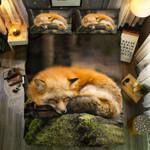 Fox Sleeping Bedding Set Bedroom Decor