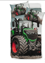 Farm Tractor Big Agriculture And Farming Tractor Truck Printed Bedding Set Bedroom Decor