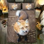 Looking At Fox  Bedding Set Bedroom Decor