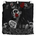 Day Of The Dead And Roses  Bedding Set Bedroom Decor