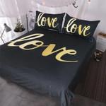 Gold Love 3D Bedding Set Bedroom Decor